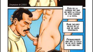 Padre Le Come la Polla A su Hijo en La Cabaña de Madera | Comic Gay